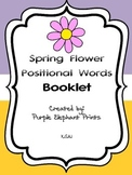 Spring Flower Positional Words Booklet