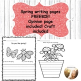 Spring Flower Pot Writing Pages and Hat Template