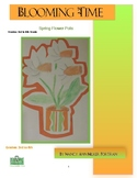 Spring Flower Pots Visual Art lesson for grades 3 to 6