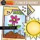 Spring Flower Sequence Clip Art