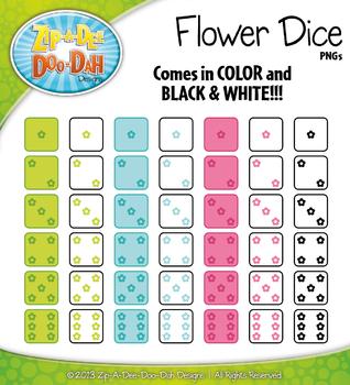 Spring Flower Dice Clip Art Set — Over 40 Graphics!