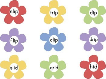Spring Flower Short Vowel Word Family Sort
