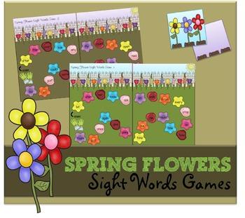 Spring Flower Sight Word Game (1st Grade)
