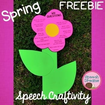 Spring Flower Speech Therapy Craft {articulation language