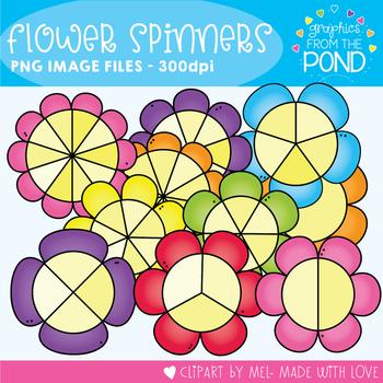 Flower Spinners Clipart