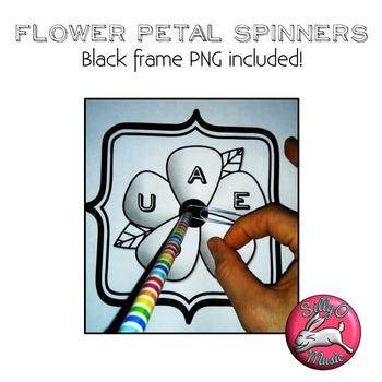 Spring Flower Spinners Clip Art