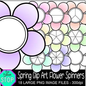 Spring Flower Spinners Spring Clip Art {The Teacher Stop}