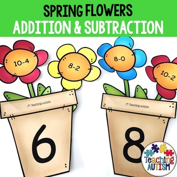 Spring Addition and Subtraction Flowers