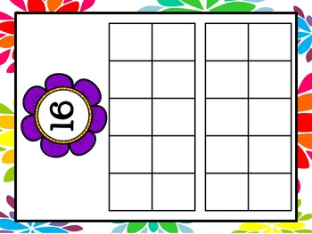 Spring Flower Ten Frames Numbers 1 - 20 (Complete & Blank Sets)