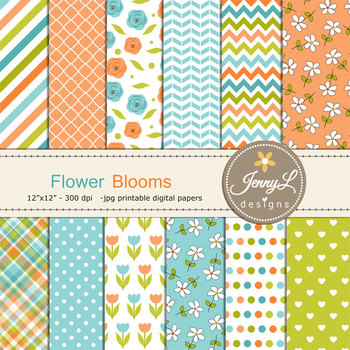 Spring Flower Tulip Digital Paper