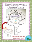 Spring Flower Writing Craft {Easy and Differentiated}