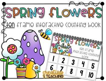 Spring Flowers 10 Frame Counting Interactive Book