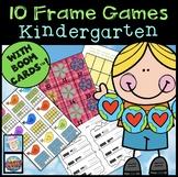 Ten Frame Games Kindergarten for Spring | Kindergarten Math Games