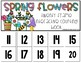 Spring Flowers 20 Frame Counting Interactive Book