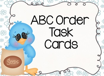Spring Flowers ABC Order Task Cards