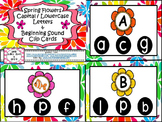 Spring Flowers ABC and Beginning Sound Clip Cards ~ Letter