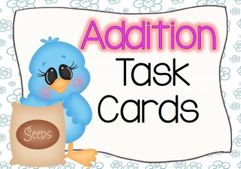 Spring Flowers Addition Task Cards (within 20)