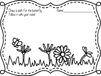 Spring Flowers Animated Vocal Explorations PowerPoint and Worksheet