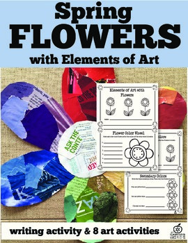 Spring Flowers Art and Writing Activity