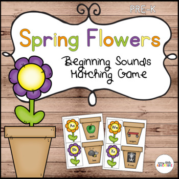 Spring Flowers Beginning Sounds Alphabet Match