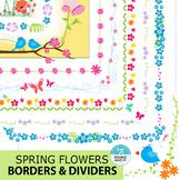 Spring Flowers Borders & Dividers