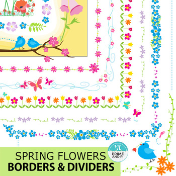 Spring Flowers Borders & Dividers