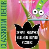 Spring Flowers Bulletin Board Posters