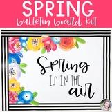 Spring Flowers Bulletin Board or Door Kit