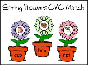 Spring Flowers CVC Literacy Center