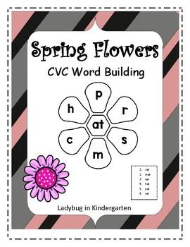 Spring Flowers CVC Word Building