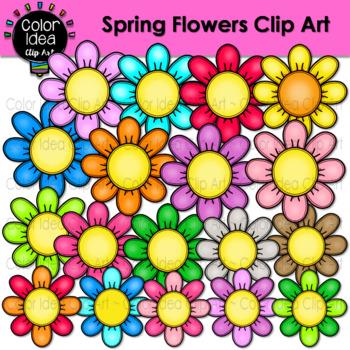 Spring flowers clip art by color idea teachers pay teachers mightylinksfo