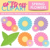 Spring Flowers Clip Art (Digital Use Ok!)