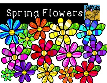 Spring Flowers Clip Art by Kid-E-Clips Commercial and Personal Use