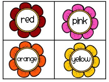 Spring Flowers Color Match / Memory Cards