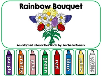 Spring Flowers & Color Words Adapted Interactive Book {Aut
