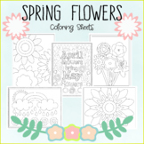 Spring Flowers Coloring Sheets - 5 Designs