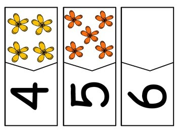 Spring Flowers Counting Puzzles (1 - 5)