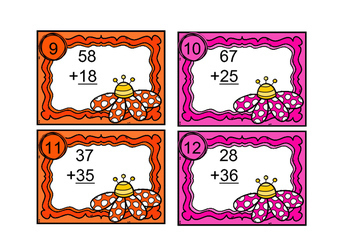 Spring Flowers Double Digit Addition with Regrouping