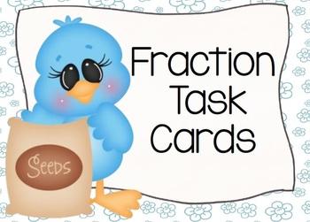 Spring Flowers Fraction Task Cards