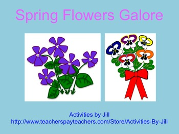 Spring Flowers Galore Clip Art