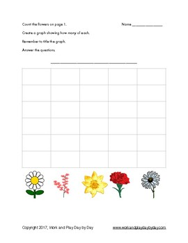 Spring Flowers Graphing Activity