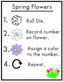 Spring Flowers Math Directional Guide.