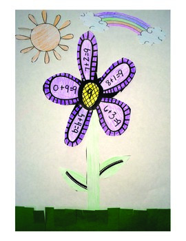 Spring Flowers Math Fact Practice.