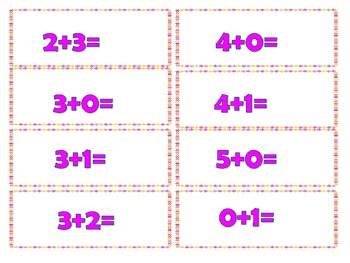 Spring Flowers Math Facts Practice