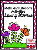 Spring Flowers Math and Literacy Activities