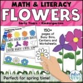 Spring Flowers Math and Literacy Centers for Preschool, Pr