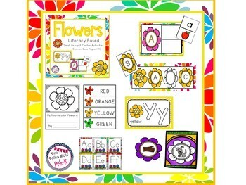 Spring Flowers Mega Literacy Pack ~ Letter Recognition, Beginning Sounds