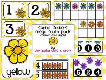 Spring Flowers Mega Math Pack ~ Counting, Patterning, Number Recognition