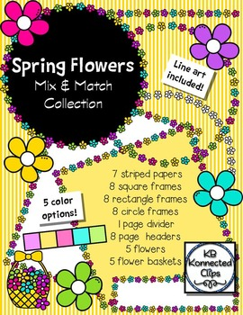 Spring Flowers Mix & Match Collection - Clip Art