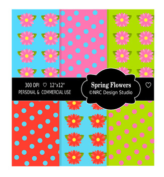 Spring Flowers Paper Pack